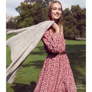 NEW Loft Floral Tiered Midi Dress size MP